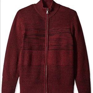 Men's GuessTawny Port Multi Zip Sweater Size XL
